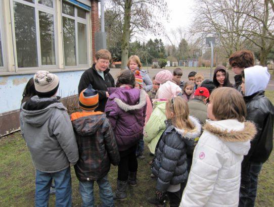 Planung des Schulgartens